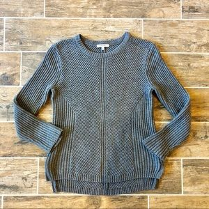 Madewell Hexcomb Textured Grey knit Sweater. M